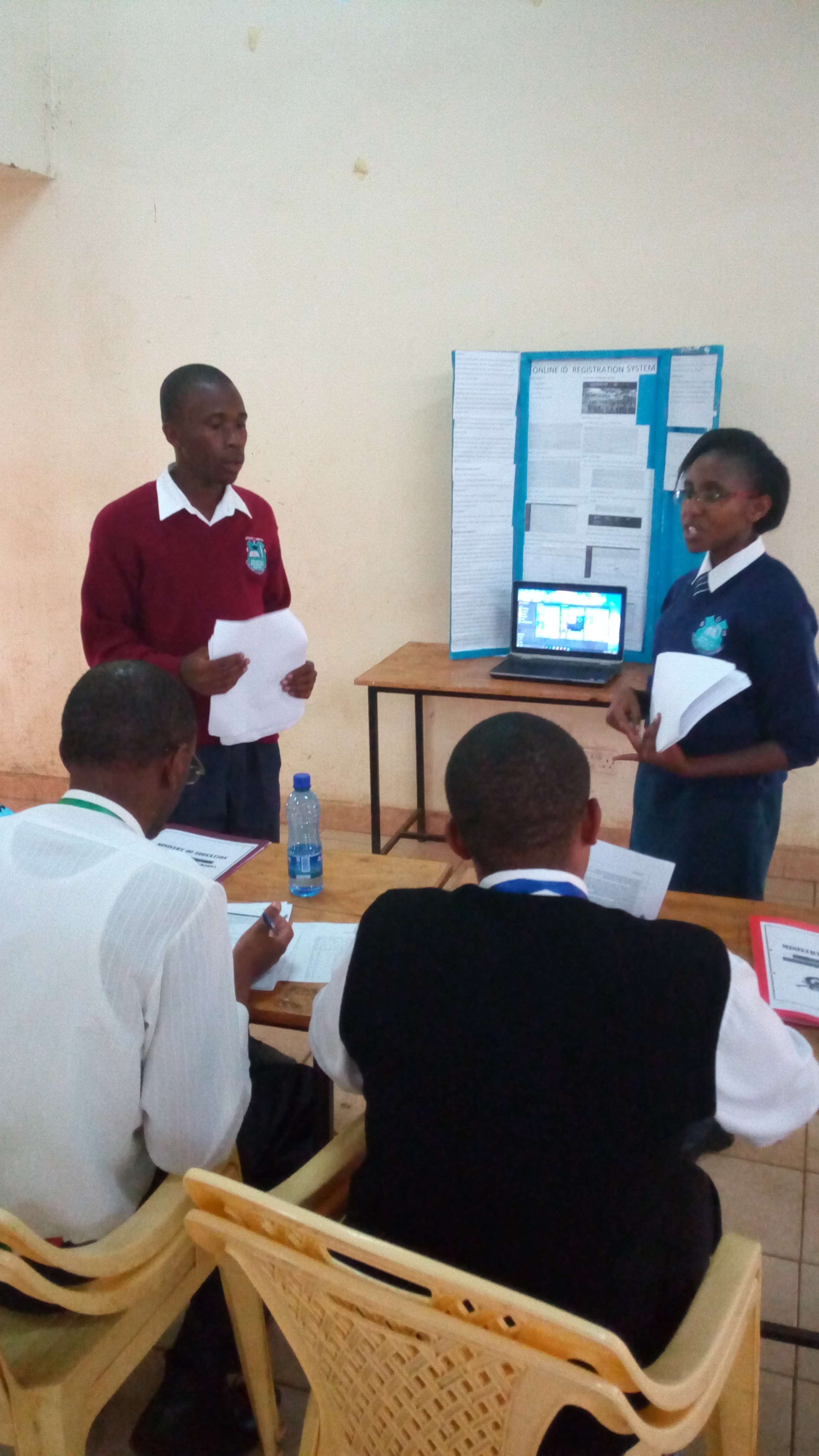 Students presenting during the Kenya Science and Engineering